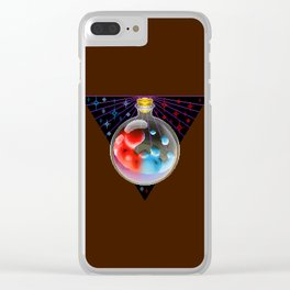 Mana health Potion pixel art Clear iPhone Case