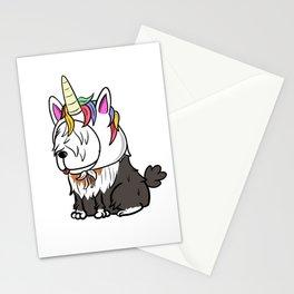 Old English Sheepdog Unicorn Hat Stationery Cards
