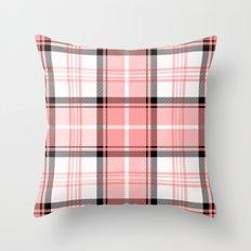 Pink Tartan Throw Pillow