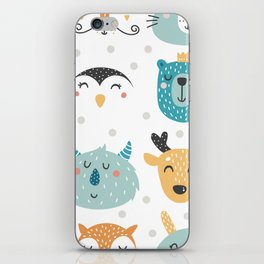 Baby Animals - Fantasy and Woodland Creatures Pattern iPhone Skin