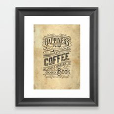 Coffee - Typography v2 Framed Art Print