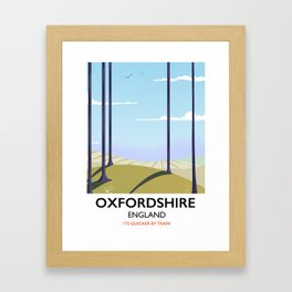 Oxfordshire vintage style travel poster Framed Art Print