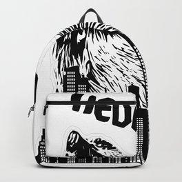 black hedgezilla hedgehog hedgehog skyline big sweet Backpack