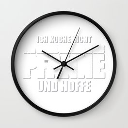 Cook Kitchen Funny saying Cooking Gift Wall Clock