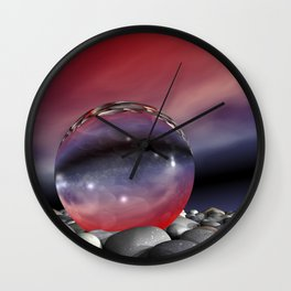 lightrefraction  and glass Wall Clock