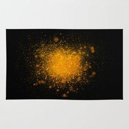 golden dust explosion Rug