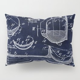 Ice Cream Scoop Blueprint Pillow Sham