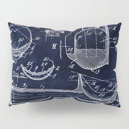 Ice Cream Scoop Blueprint Pillow Sham