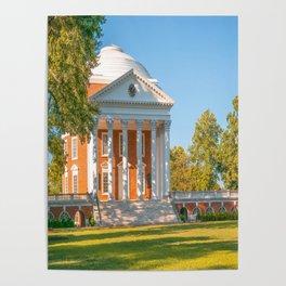 Charlottesville Virginia Campus Lawn Print Poster