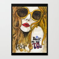 70s Canvas Prints featuring 70s by Ilaria Benedetti