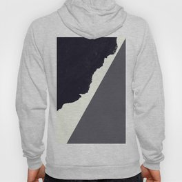 Contemporary Minimalistic Black and White Art Hoody