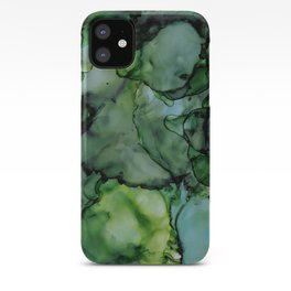 Midnight Green Alcohol Ink iPhone Case