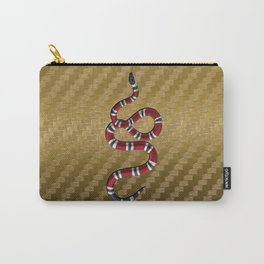 Gold Carbon snake Carry-All Pouch