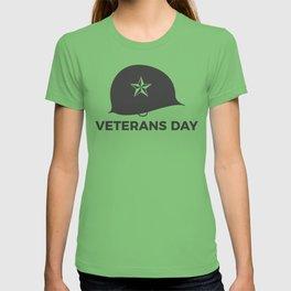 Veterans Day Commemorative Soldier Helmet Star T-shirt