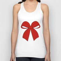 bow Tank Tops featuring bow by  MuDi