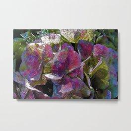 Colorful Hydrangea Ornament Metal Print