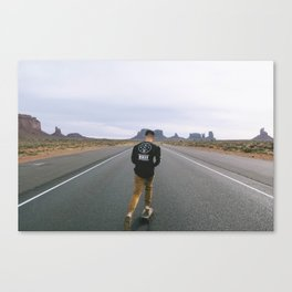 Skating across Monument Valley Canvas Print