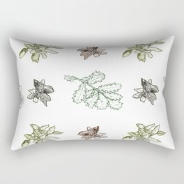 Quercus (greens) Rectangular Pillow