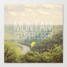 West Virginia, Montani Semper Liberi Canvas Print