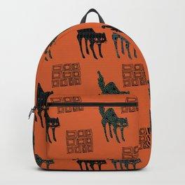 Halloween Creepy Cat Backpack
