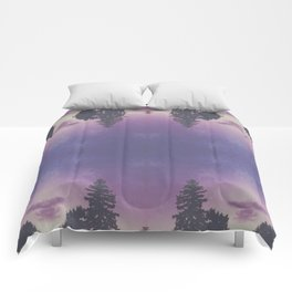 Purple Pines Comforters
