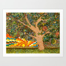 Etz haDaat tov V'ra: Tree of Knowledge Art Print