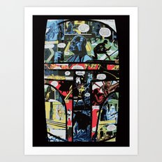 Boba Fett Collage Art Print