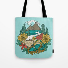 Pacific Northwest Coffee and Nature Tote Bag