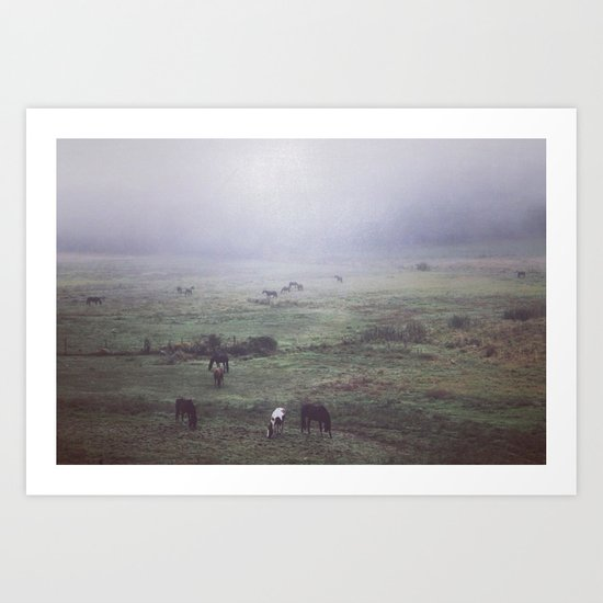 foggy days are my favorite days. Art Print