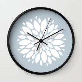 Flower in White #1 Wall Clock