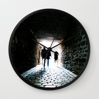 silhouette Wall Clocks featuring Silhouette by Kim Ramage