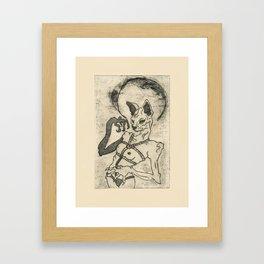 Kiki Pussy Framed Art Print