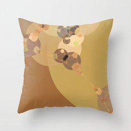 carmen - abstract design warm tan brown caramel beige taupe Throw Pillow