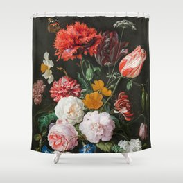 Dutch Golden Age Floral Painting Shower Curtain