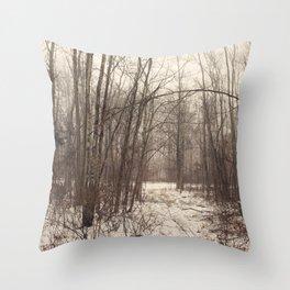 Bare Woods Throw Pillow