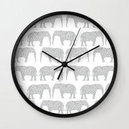 Alabama bama crimson tide elephant state college university pattern footabll Wall Clock