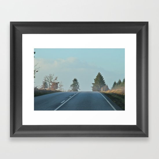 behind the hill Framed Art Print