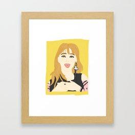 Knock Knock! Jihyo Yellow Framed Art Print