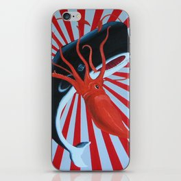 squid and whale iPhone Skin