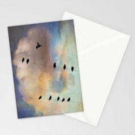 lazy birds Stationery Cards