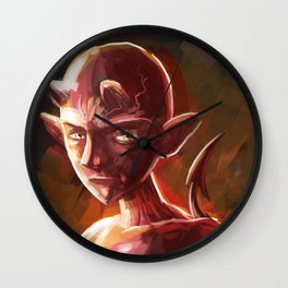 little young teen devil Wall Clock