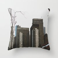 buildings Throw Pillows featuring Buildings by Genevieve Einwalter