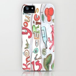 Know Your Groceries iPhone Case