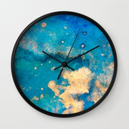 Touch of Gold_Sky Wall Clock