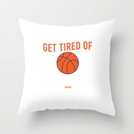 Basketball player throwing clothes Throw Pillow