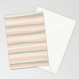 Organic Stripes Pale Apricot Stationery Cards