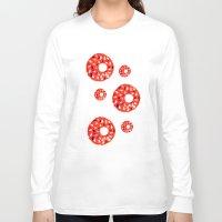 doughnut Long Sleeve T-shirts featuring Doughnut by Myles Hunt