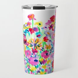 Flower Fields Pink Travel Mug