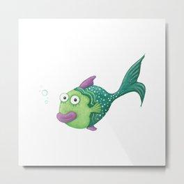 Funny Fish Metal Print
