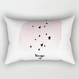 Virgo Star sign, Constellation, Astrology, Horoscope, Zodiac Pink Watercolor Rectangular Pillow